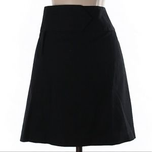 INC International Concepts Black A-Line Skirt
